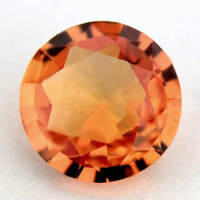 5.10mm Round Certified Natural Unheated Tangerine Orange Sapphire 0.58ct Untreated Madagascar Gem - sapphirebazaar - 2