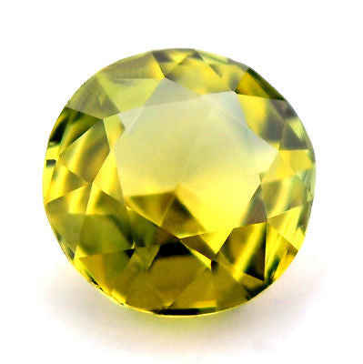 Certified 4.76mm Round Natural Yellow Sapphire Rose Cut 0.54ct vs Clarity Madagascar Gem - sapphirebazaar - 1