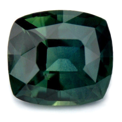 1.08ct Certified Natural Green Sapphire Cushion Shape vvs Clarity Madagascar Gem - sapphirebazaar - 1