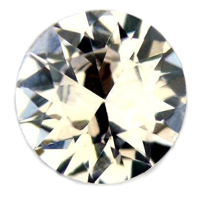 0.45ct Certified Natural White Sapphire