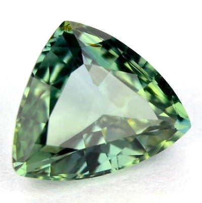 Certified 1.14ct Natural Unheated Untreated Green Sapphire Trillion Shape Vvs Clarity Madagascar Gem - sapphirebazaar - 1