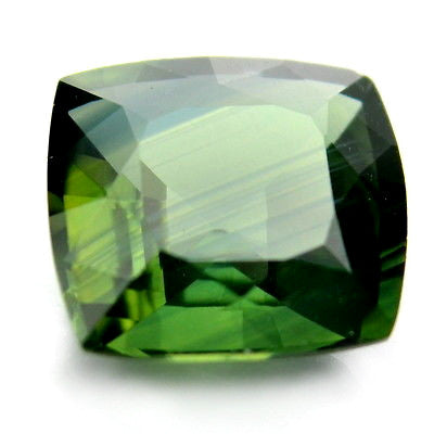 0.97ct Certified Natural Unheated Green Color Cuhsion Cut Sapphire vvs Clarity Madagascar Gem - sapphirebazaar - 1