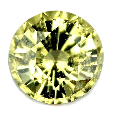 0.55ct Certified Natural Yellow Sapphire