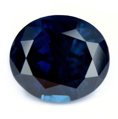 3.95 ct Certified Natural Dark Blue Sapphire Vvs Clarity Oval Shape  Madagascar Gem - sapphirebazaar - 1