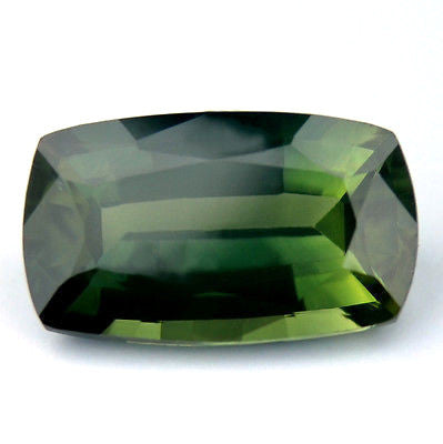 Certified Natural Green Sapphire 1.55ct  vs Clarity Cushion Shape Madagascar Gemstone - sapphirebazaar - 1