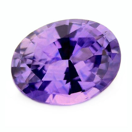 0.99 ct Certified Natural Purple Sapphire
