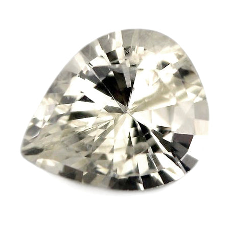 0.65ct Certified Natural White Sapphire