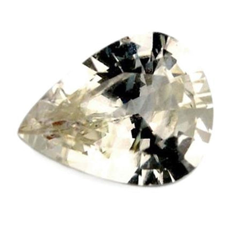 0.50ct Certified Natural White Sapphire