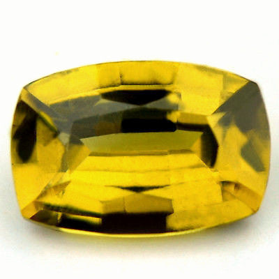 Certified Natural Unheated Olive Yellow Sapphire 0.68ct Cushion Untreated Vvs Clarity Madagascar Gem - sapphirebazaar - 1