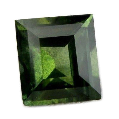 Certified Natural Unheated 0.52ct Green Sapphire Vs Clarity Square Cut Madagascar Gem - sapphirebazaar - 1