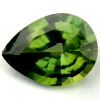Certified Natural Green Sapphire 0.77ct Pear Shape Vs Clarity Madagascar Gem - sapphirebazaar - 1
