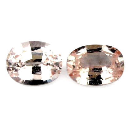 0.51ct Certified Natural White Sapphire Pair