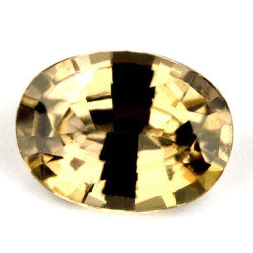 Certified Natural Unheated Brownish Yellow Sapphire Untreated 1.17ct Oval SI Clarity Untreated Madagascar Gem - sapphirebazaar - 1