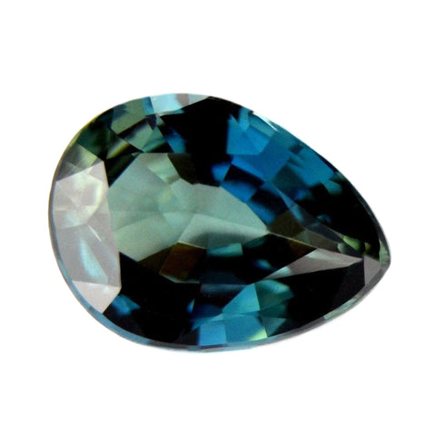 0.64ct Certified Natural Teal Sapphire