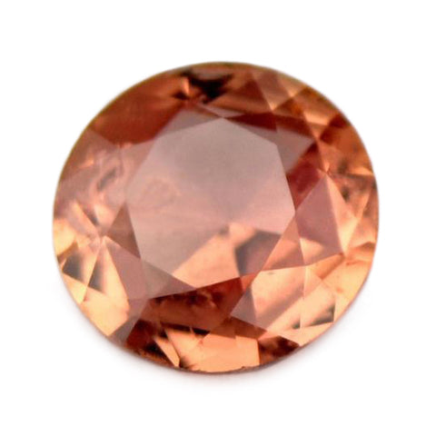 0.60 ct Certified Natural Orange Sapphire