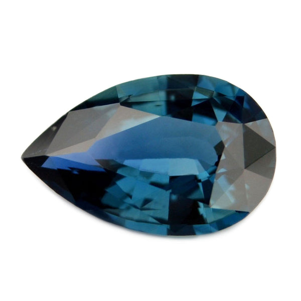 0.75 ct Certified Natural Teal Sapphire