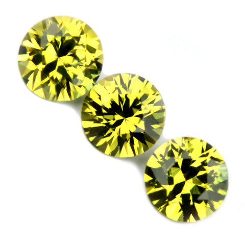 0.96 ct Certified Natural Yellow Sapphire Matching Set