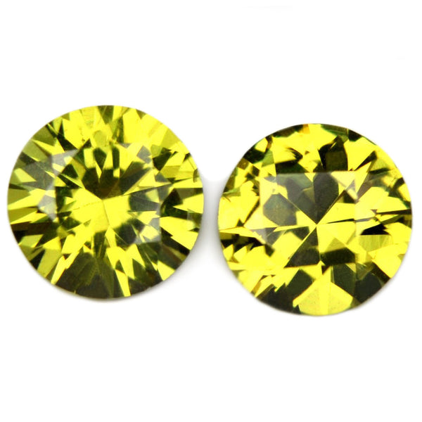0.91ct Certified Natural Yellow Sapphire Matching Pair