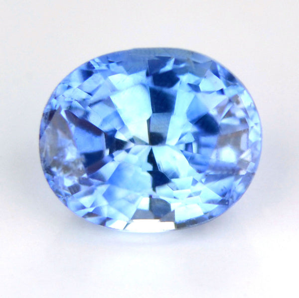 Certified Natural Ceylon Cornflower Blue Sapphire 0.65ct Vs Clarity Oval Shape Gemstone - sapphirebazaar - 1