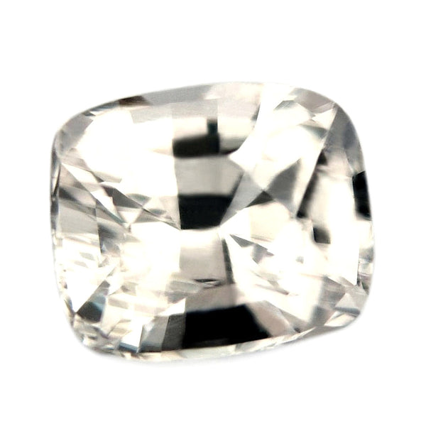 0.89ct Certified Natural White Sapphire