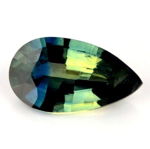 Certified Natural Multi Color Sapphire 1.14ct Pear Shape vs Clarity Madagascar Gem - sapphirebazaar - 1