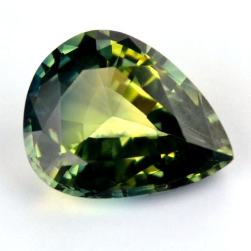 Certified Natural 0.89ct Multi Color Blue Yellow Green Sapphire Pear Shape vvs Clarity Madagascar Gem - sapphirebazaar - 1
