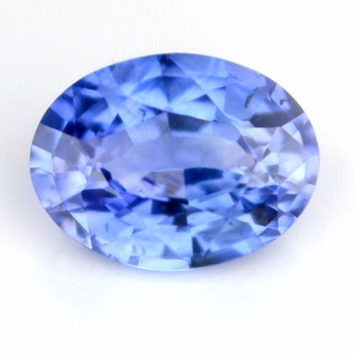 Certified Natural Ceylon Sapphire Cornflower Blue 0.43ct Vs Clarity Oval Shape Gemstone - sapphirebazaar - 1