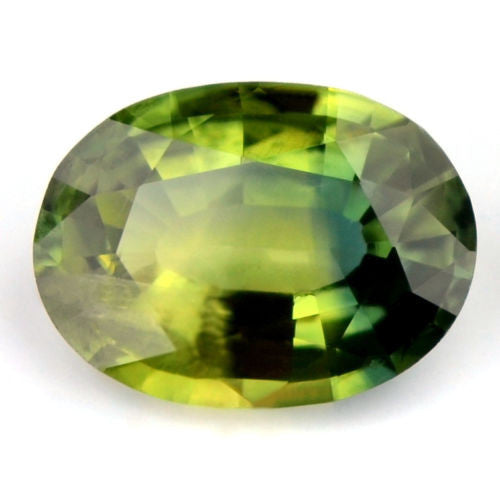 Certified Natural 1.32ct Multi Color Blue Yellow Green Sapphire Oval SI Clarity Madagascar Gem - sapphirebazaar - 1