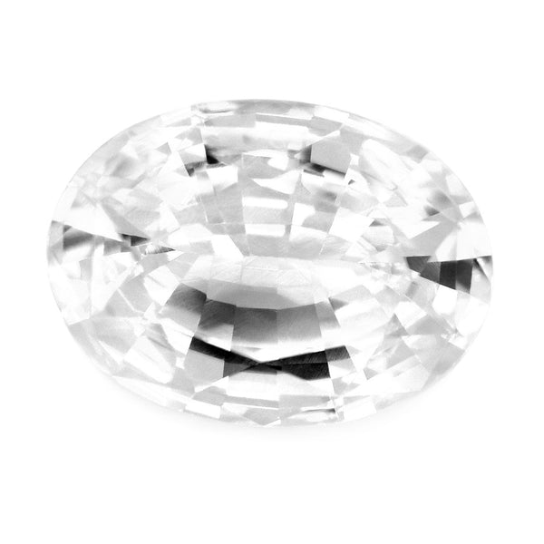 1.15ct Certified Natural White Sapphire
