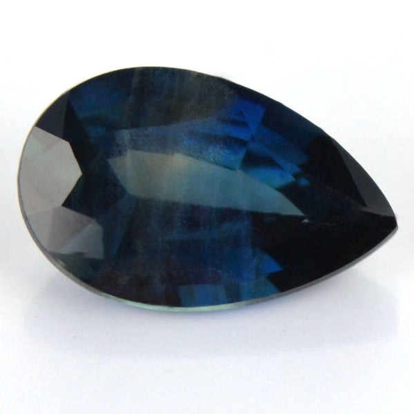 Certified Natural Greenish Blue Sapphire 1.12ct Pear Shape SI Clarity Madagascar Gem - sapphirebazaar - 1