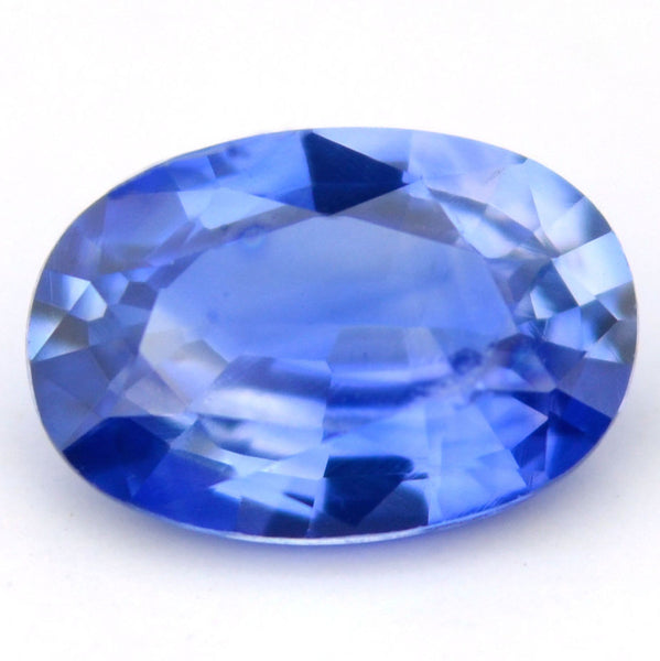 Certified Natural Ceylon Sapphire Cornflower Blue 0.55ct Vs Clarity 6x4mm Oval Sri Lankan Gem - sapphirebazaar - 1