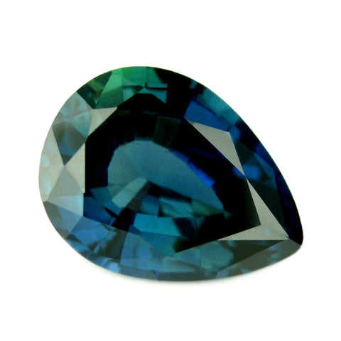 0.97ct Certified Natural Teal Sapphire