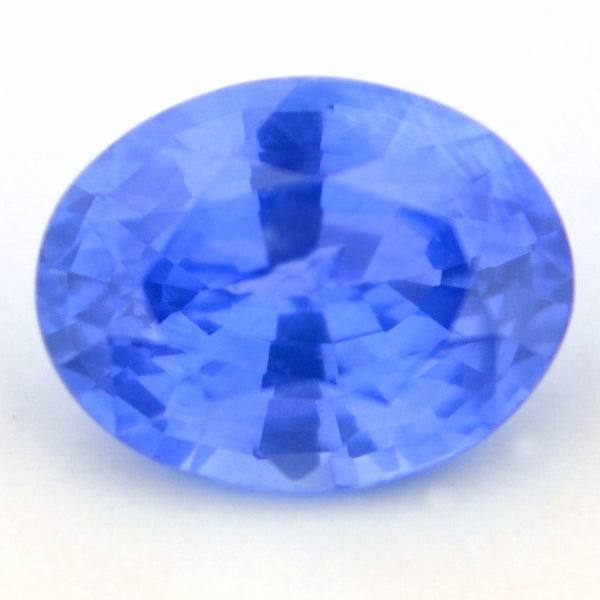 Certified Natural Ceylon Cornflower Blue Sapphire 0.56ct Oval Shape Vs Clarity Sri Lanka Gemstone - sapphirebazaar - 1