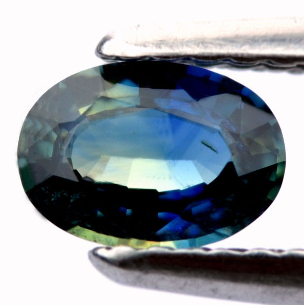 Certified Natural 0.59ct Blue Sapphire Oval Shape Vs Clarity Madagascar Gemstone - sapphirebazaar - 1