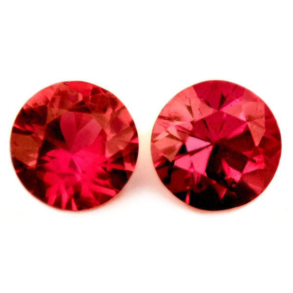 0.45ct Certified Natural Pink Sapphire Matching Pair