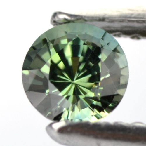 Certified 4.66mm Round Natural Bluish Green Sapphire 0.56ct Internally Flawless Madagascar Gem - sapphirebazaar - 1