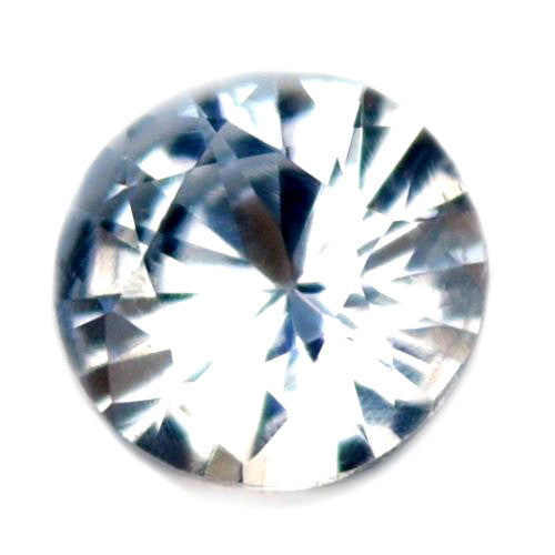 0.27ct  Certified Natural White Sapphire