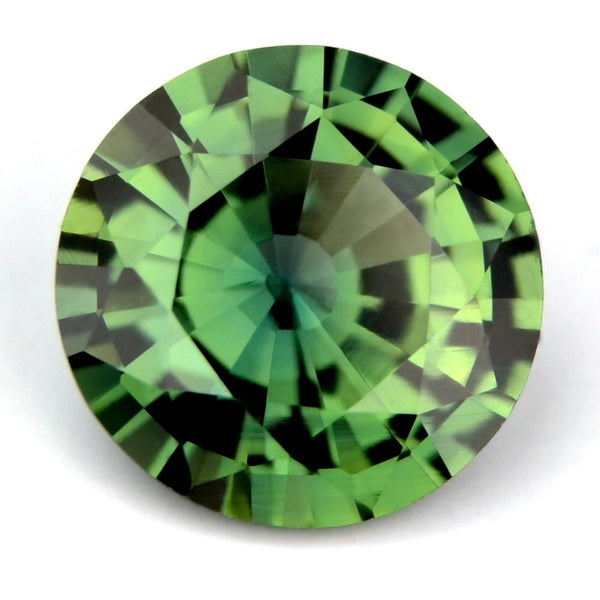 Certified Natural 6.05mm Green Round Sapphire - sapphirebazaar - 1