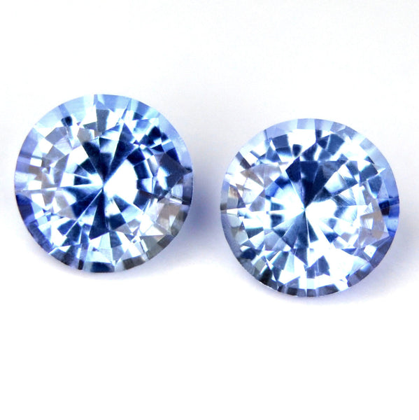 3.72 mm Certified Natural Blue Sapphire Pair