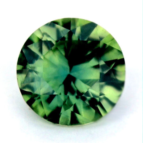 Certified Natural 4.92mm Round Bluish Green Sapphire 0.49ct Vvs Clarity Brilliant Cut Madagascar Gem - sapphirebazaar - 1