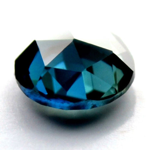 Certified Natural 4.64mm Round Teal Sapphire 0.50ct Flawless If Clarity Rose Cut Gemstone - sapphirebazaar - 1