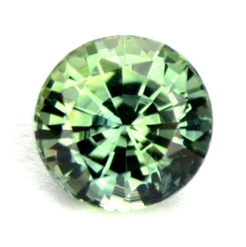 Certified 4.60mm Round Natural Sapphire Green Color 0.54ct Vvs Clarity Madagascar Gem - sapphirebazaar - 1