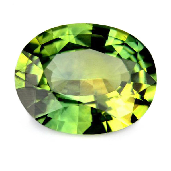 0.76 ct Certified Natural Green Sapphire