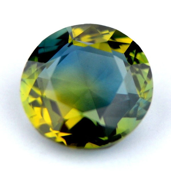 Certified Natural 5.21mm Round 0.57ct Multi Color Sapphire Vvs Clarity Rose Cut Madagascar Gem - sapphirebazaar - 1