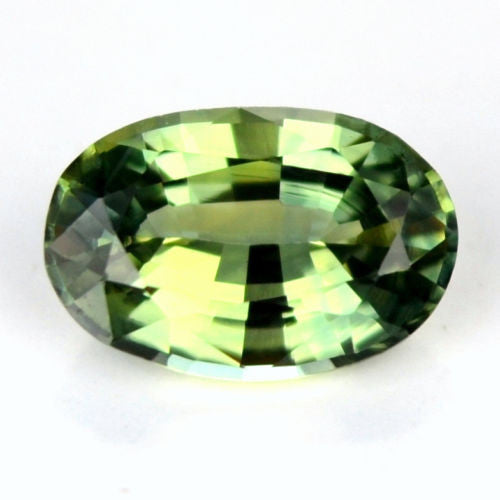 Certified Natural Sapphire 0.60ct Bluish Green Oval Flawless If Clarity Madagascar Gem - sapphirebazaar - 1