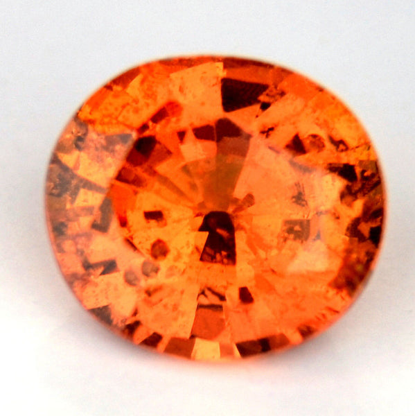 0.81ct Certified Natural Orange Sapphire - sapphirebazaar - 1
