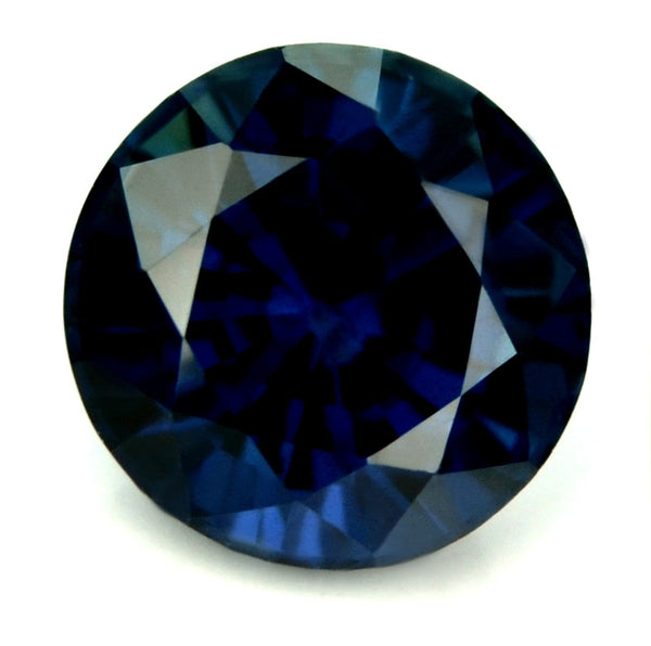 AGL Certified Natural Unheated 5.3mm Blue Round Sapphire - sapphirebazaar - 1