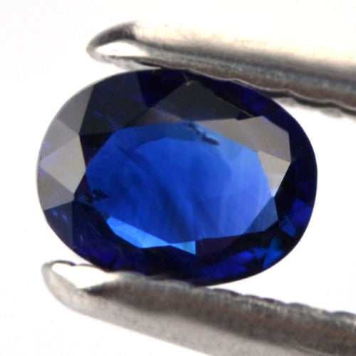 Certified Natural Ceylon Sapphire Royal Blue Color 0.40ct Si Clarity Oval Shape Sri Lanka Gem - sapphirebazaar - 1