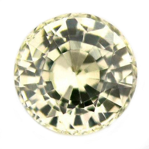 0.52ct Certified Natural White Sapphire