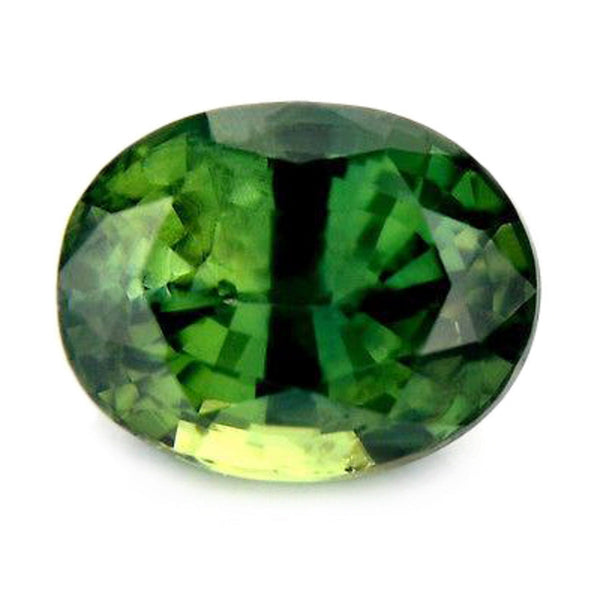 1.72ct Certified Natural Green Sapphire